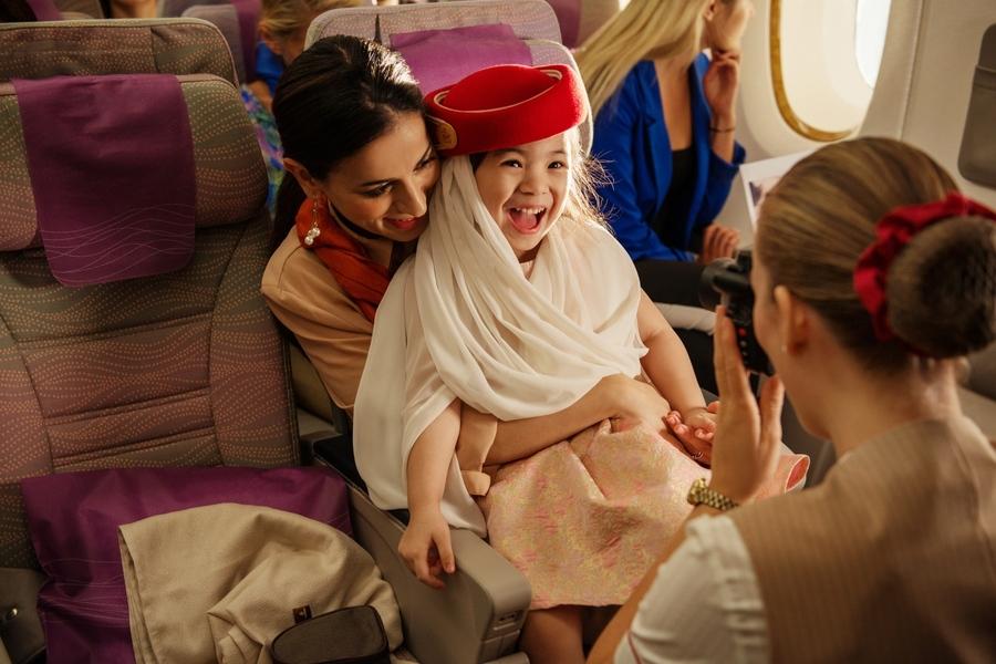 On board Emirates