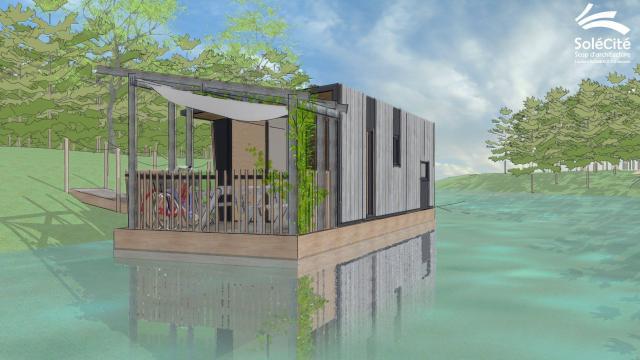 Loire atlantique la maison flottante pichon voyageur for Maison flottante