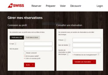 SWISS check-in
