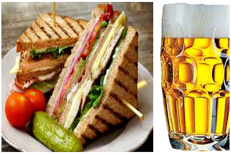 La bière et le sandwich à Genève