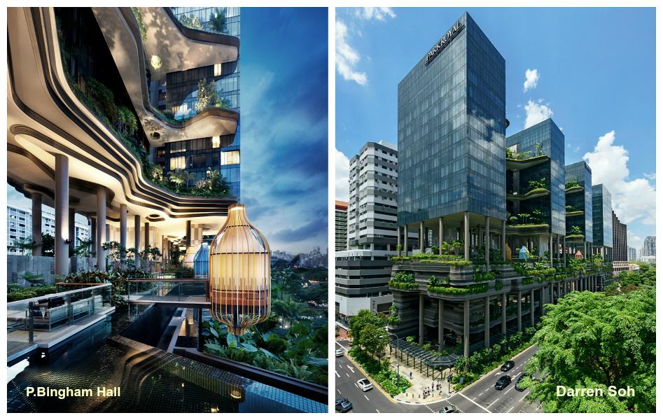 Le ParkRoyal, hôtel-jardin de Singapour