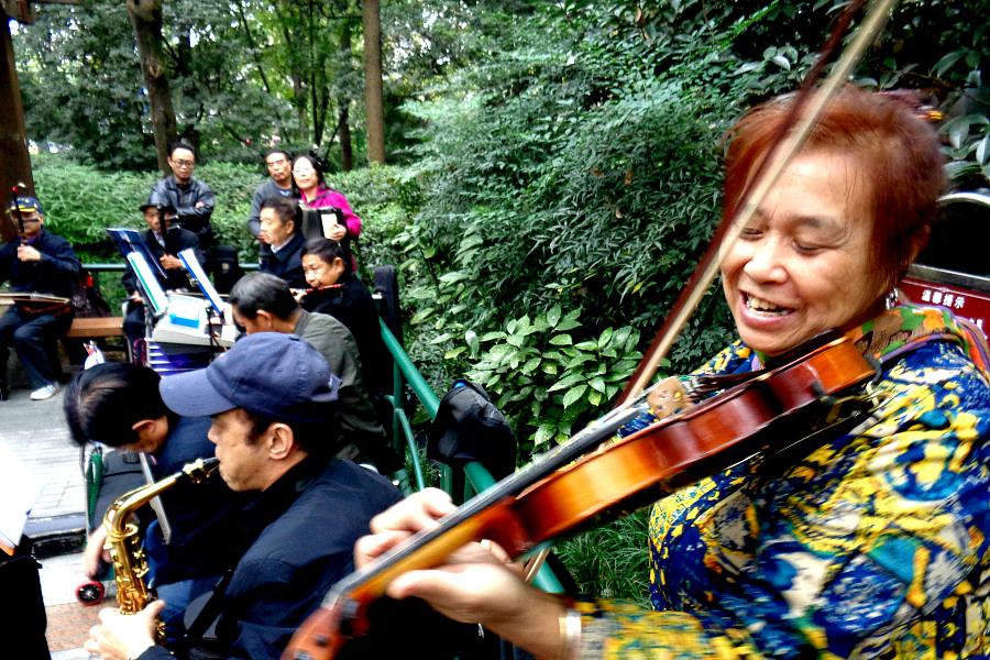 Chine : Chengdu, le Parc du Peuple