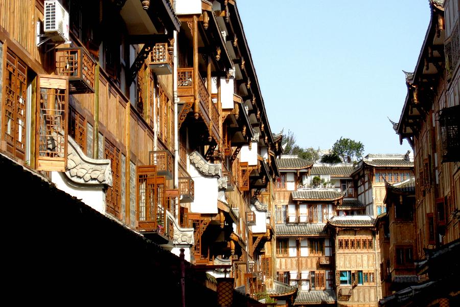 Chine : VIDEO village du Sichuan