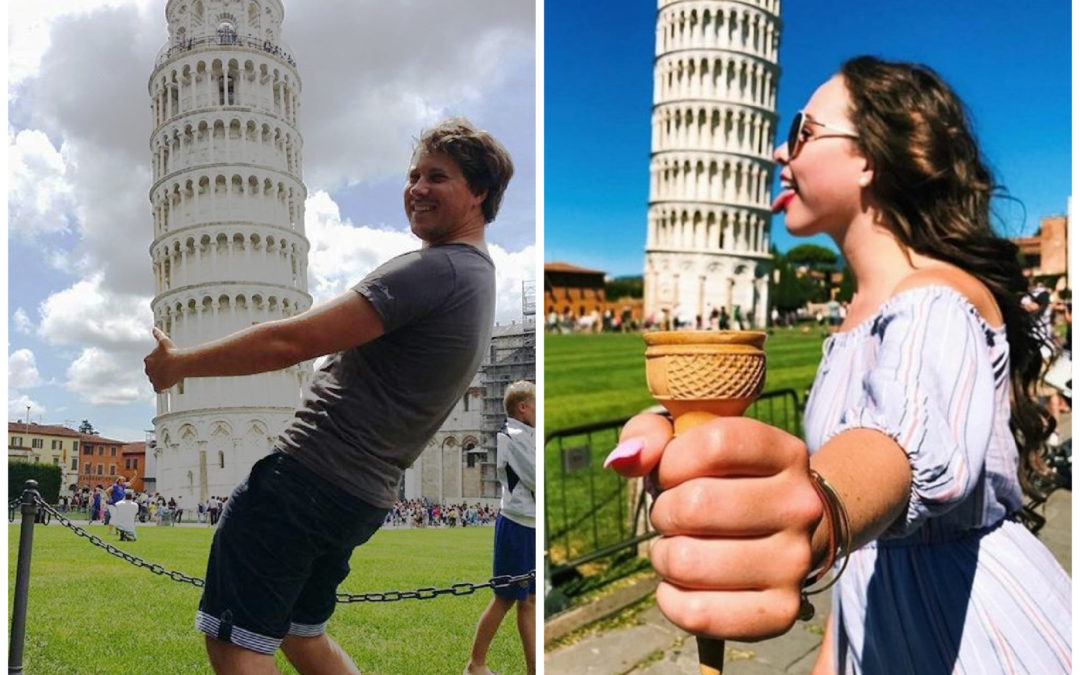 Italie : la tour de Pise…détournée